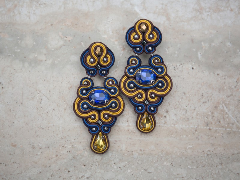 Nowness Firebird-in-Blue - Crystal stud earrings are available at the Pop Up, CHF 201