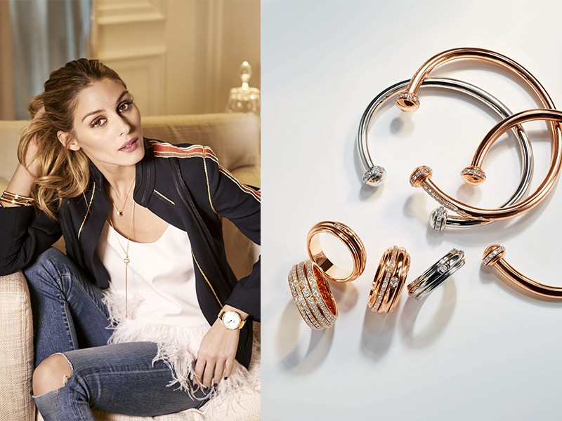 Olivia Palermo Piaget ambassador Possession Bracelet ring diamonds white rose gold