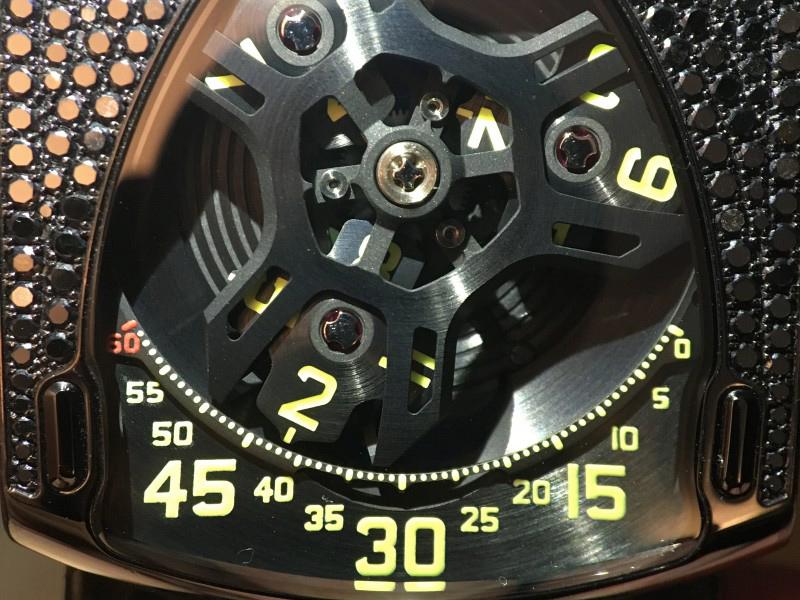 the Urwerk 106- Lotus black watch