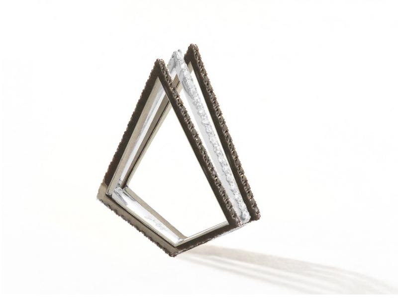Plukka triangle rings diamonds