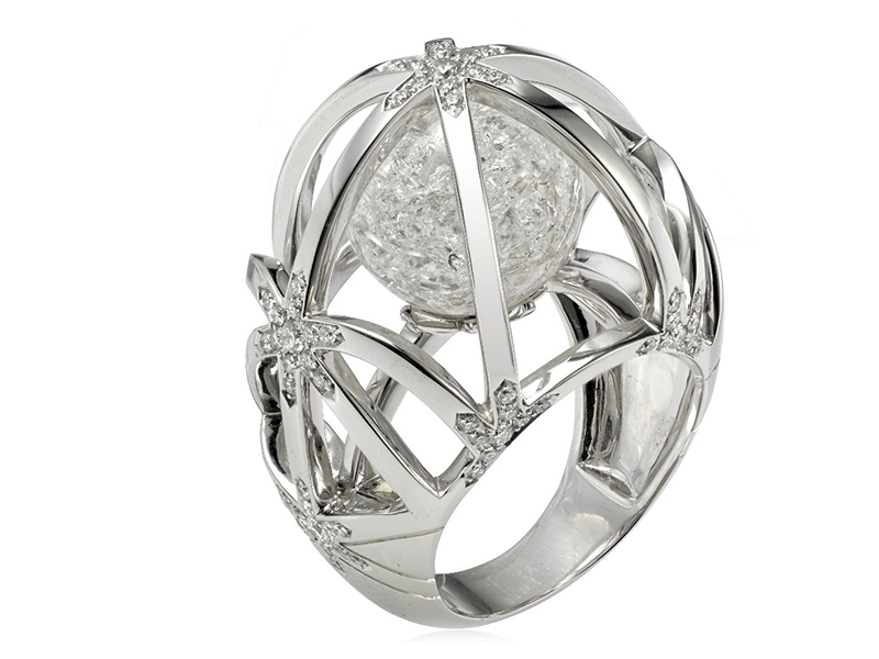 Lorenz Bäumer ring white gold diamonds