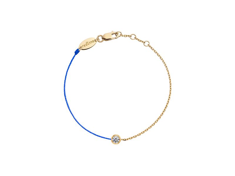 RedLine Bracelet mounted on yellow gold with one diamond