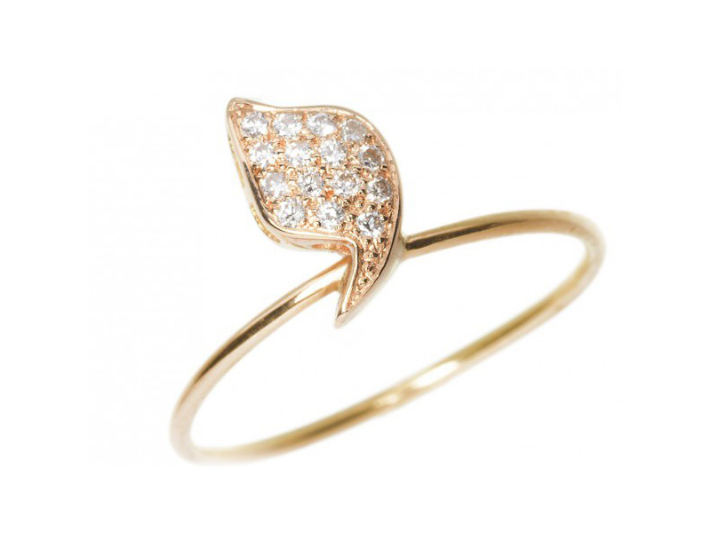 Rivka Nahmias Big Eloise Ring set on red gold with diamonds - CHF 1960.-