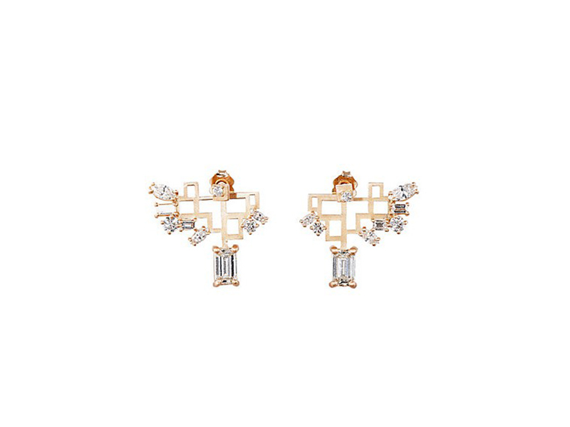 Diamond foundry XO Barneys New York Nak armstrong open-grid winged earrings ~ USD$ 18'880