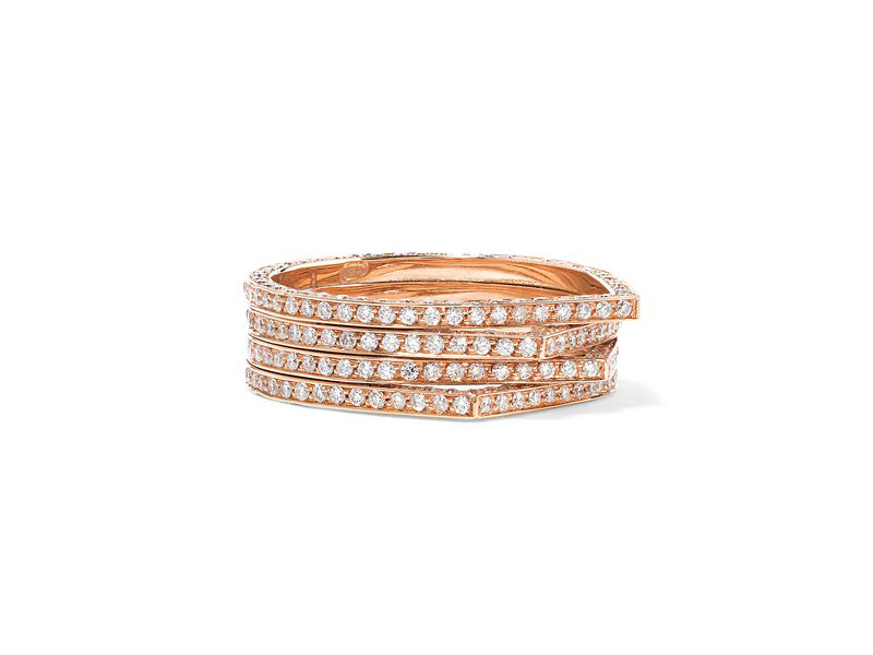 Repossi Antifer ring mounted on rose gold with diamonds ~ 9'939 Euros