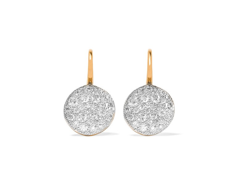Pomellato Sabbia earrings mounted on rose gold with diamonds ~ 5'805 Euros