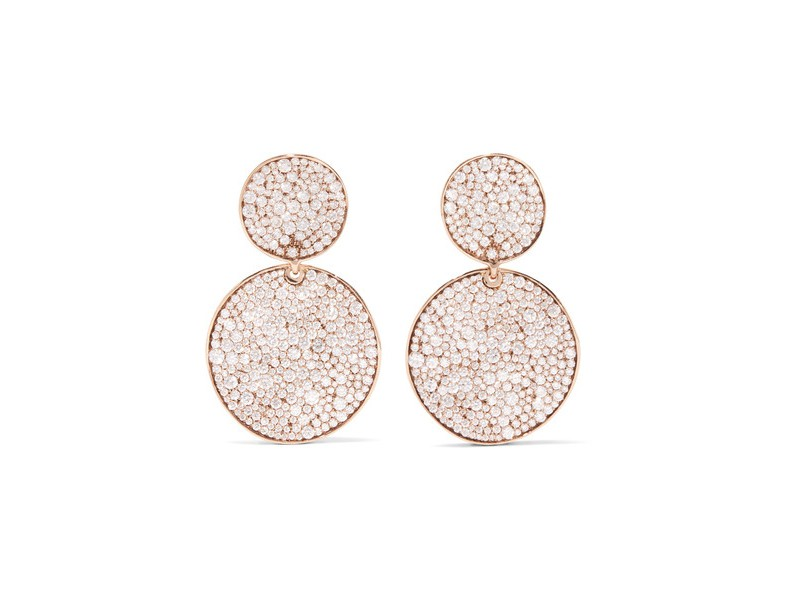 Ippolita Glamazon stardust earrings mounted on rose gold with diamonds ~ 21'950 Euros