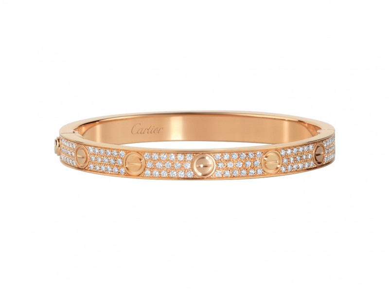 Cartier Love bracelet mounted on rose gold with diamonds ~ USD$ 40'400