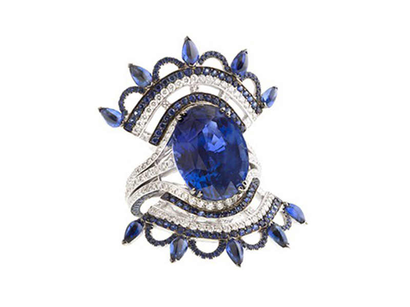 John Rubel Blue Carmen Ring
