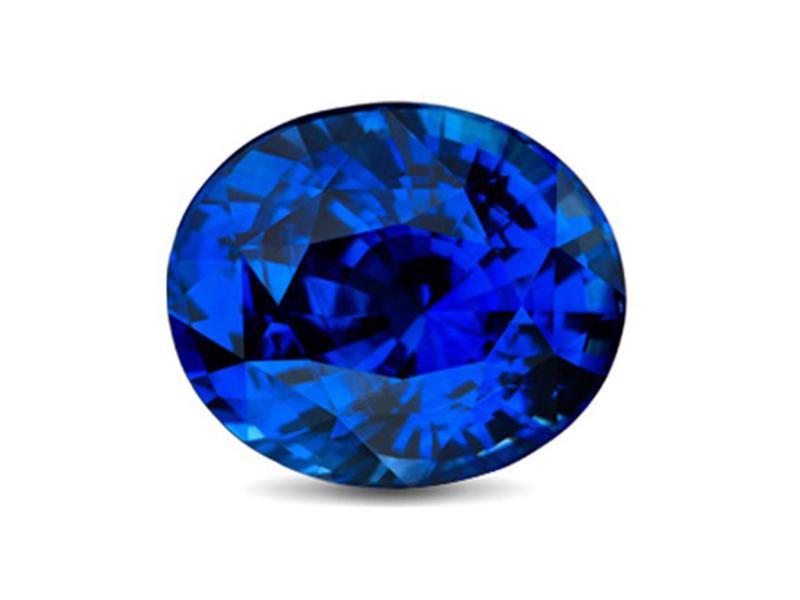 Sapphire stone blue