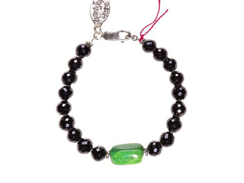 Aaron Jah Stone This bracelet with black tourmaline and green turquoise is available at the Pop Up - CHF 640