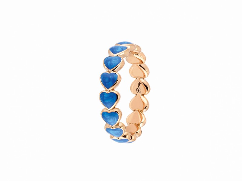 Poiray This coeur perle ring mounted on rose gold is available at the Pop Up - CHF 1'260