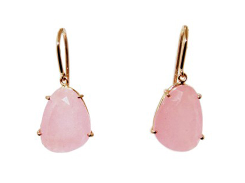 Christina Debs From Hard Candy collection, these earrings mounted on rose gold with pink jade are available at the Pop Up - CHF 785