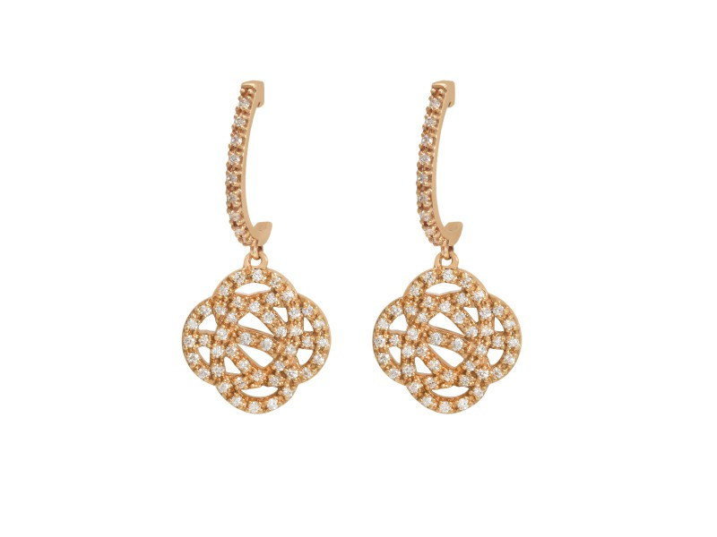 Sophie M Paris Infini Earrings set on rose gold with diamonds - AVAILABLE AT THE EYE OF JEWELRY POP UP STORE IN GENEVA - 3'250 CHF