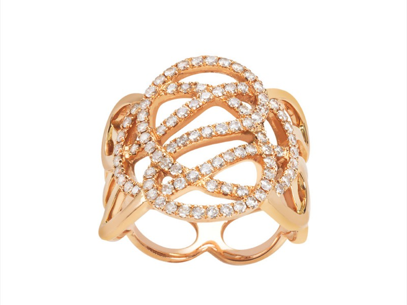 Sophie M Paris Infini collection Ring - set on white gold with diamonds - CHF 5'990