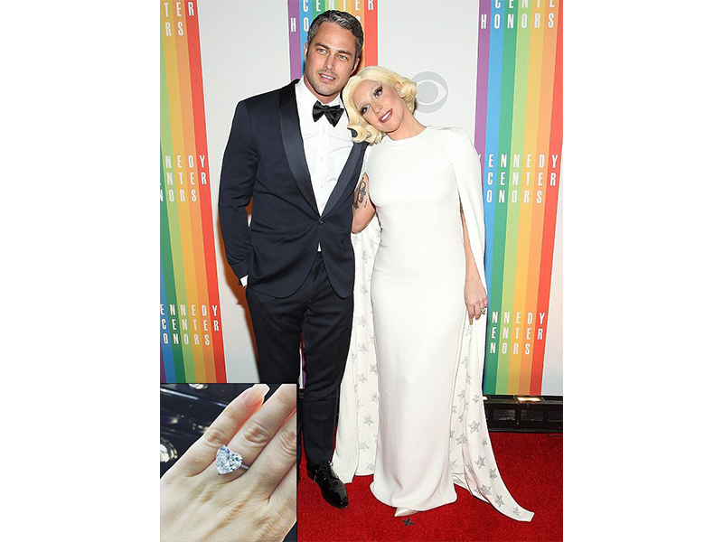 Lorraine Schwartz Lady Gaga and Taylor Kinney - 6-carat engagement ring with a heart-shaped diamond