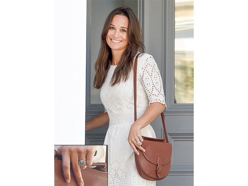 Unknown Pippa Middleton and James Matthews - Large asscher-cut diamond surrounded by a cluster of smaller diamonds