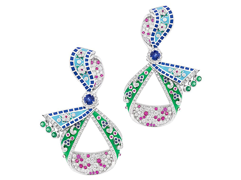 Faberge and Summer in Provence earrings diamonds