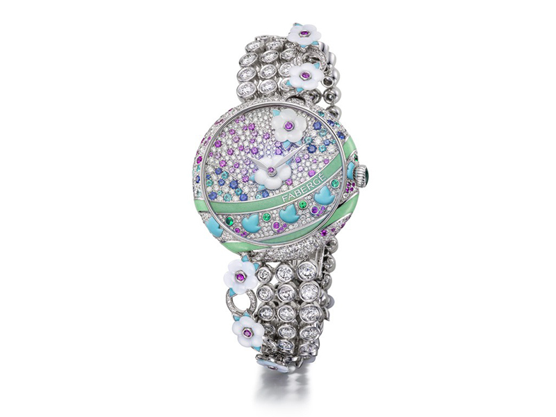 Faberge and Summer in Provence watches diamonds flowers