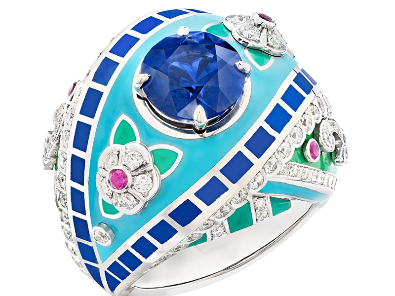 Faberge and Summer in Provence ring diamonds