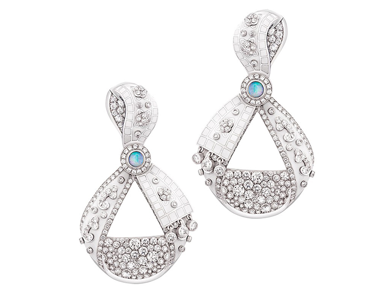 Faberge and Summer in Provence earrings white