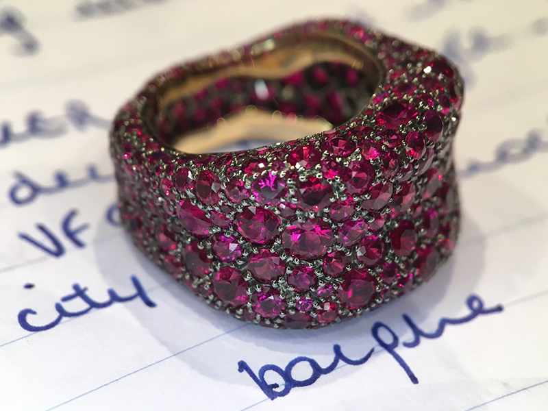 Fabergé Emotion rose sapphire ring