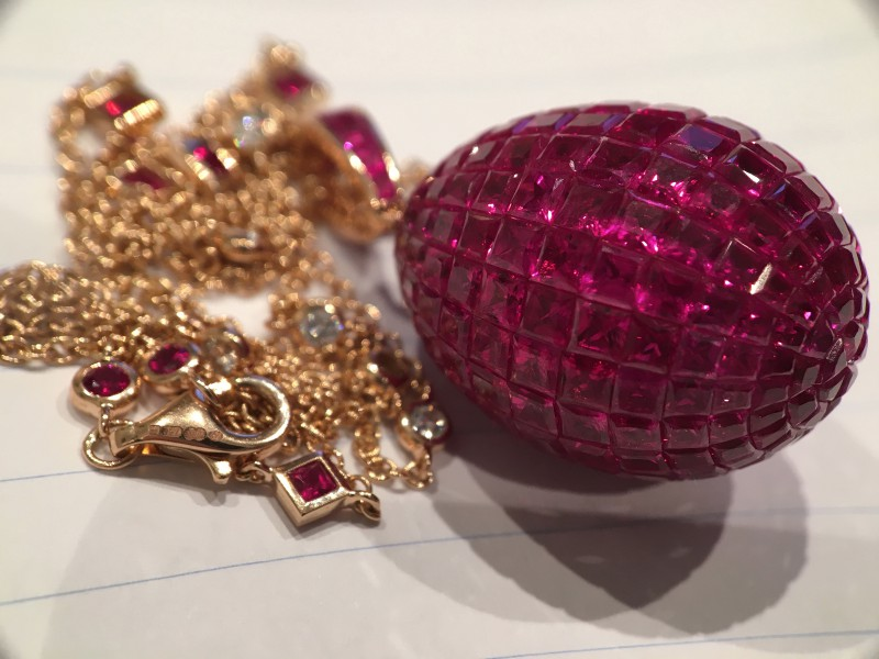Fabergé From Treasures collection - Mosaic Ruby Pendant