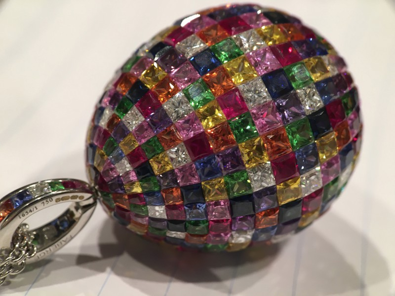 Fabergé From Treasures collection - Mosaic Multi-coloured Pendant