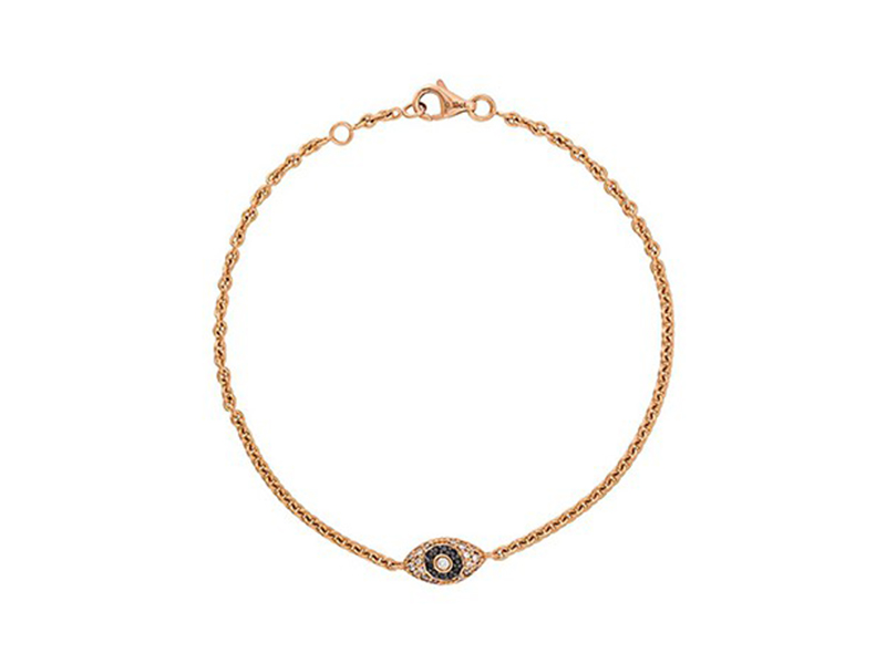 Alinka Evil eye diamond bracelet mounted on rose gold with diamonds ~ GBP£ 1'642