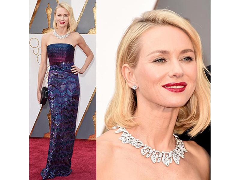 Bulgari Naomi Watts wore a Bulgari necklace at the 88th Annual Academy Awards. oscars 2016