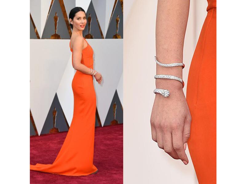 Forevermark Olivia Munn wore a diamond cuff bracelet by Forevermark. 2016