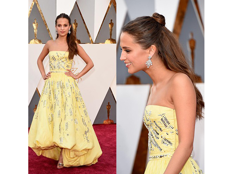 Louis Vuitton Alicia Vikander wore Louis Vuitton jewelry the 88th Annual Academy Awards. Oscars 2016