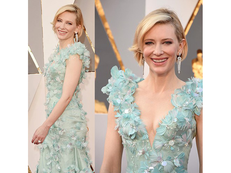 Tiffany & Co Cate Blanchett wore Tiffany & Co. jewels at the 88th Annual Academy Awards. oscars 2016