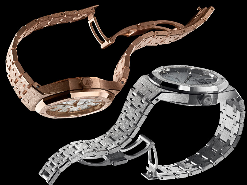 Audemars Piguet Royal Oak Frosted Gold in yellow or red gold - in collaboration with Florentine Jewelry designer Carolina Bucci