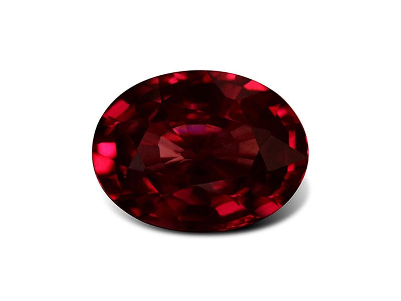Garnet red stone