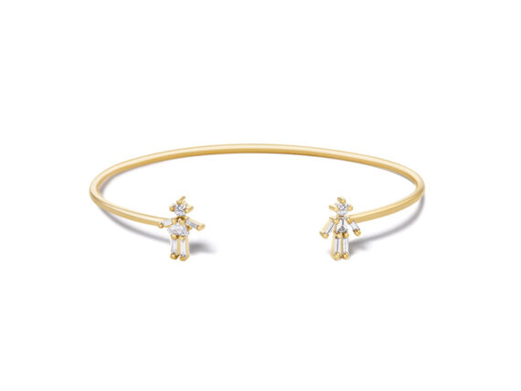 Little Ones Paris Cuff mounted on yellow gold