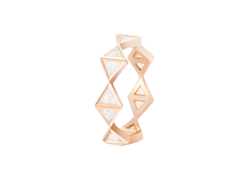 Melissa Kaye Chloe eternity band mounted on rose gold with diamonds, ~ USD$ 4'620