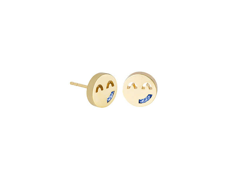 Ruifier Friends Sassy Cord Studs mounted on yellow gold, ~ GBP£ 125