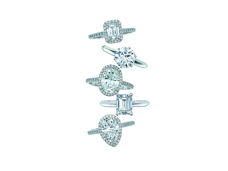 Tiffany Co. engagement rings diamonds white gold
