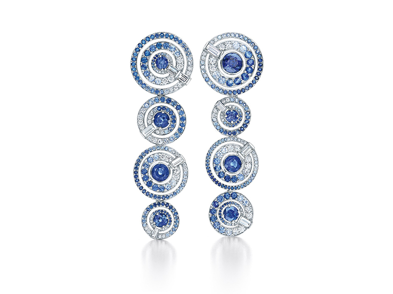 Art of the Sea Tiffany earrings diamonds white gold