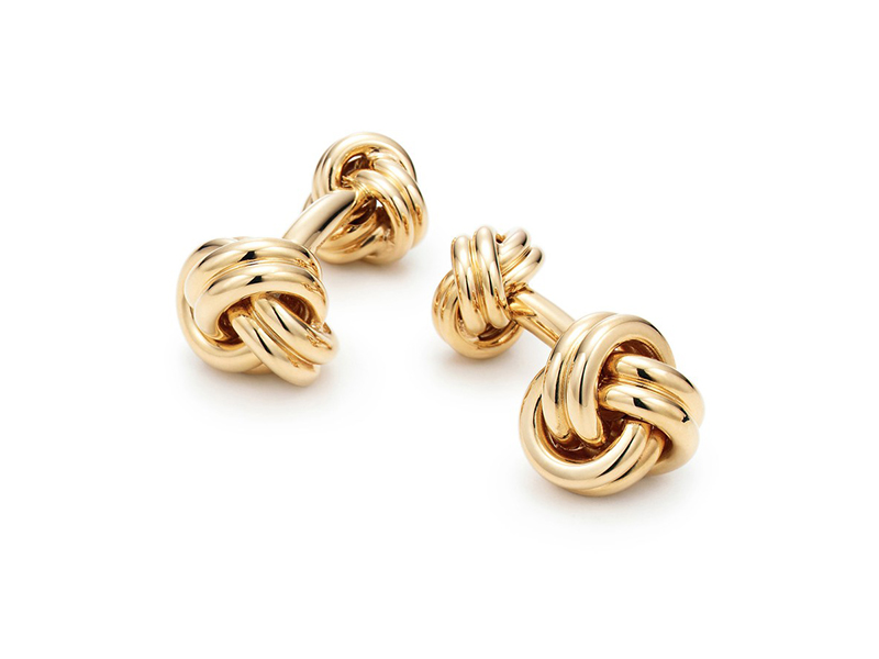 Tiffany & Co. MEN'S JEWELRY Knot Cuff Links yellow gold