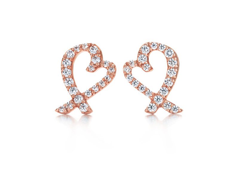 Tiffany & Co.Loving Heart Earrings diamonds rose gold