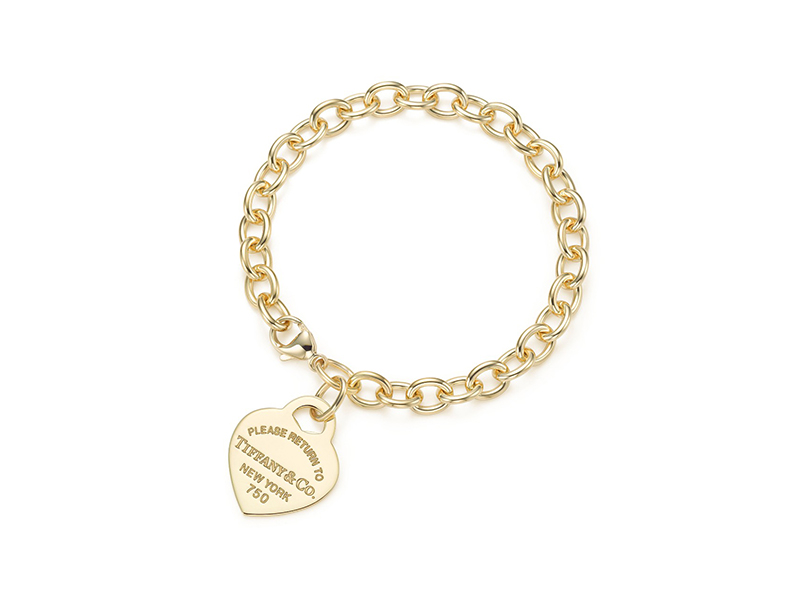 Tiffany & Co. Heart Tag Charm Bracelet yellow gold