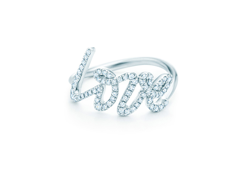 Tiffany& Co. Love Ring diamonds white gold