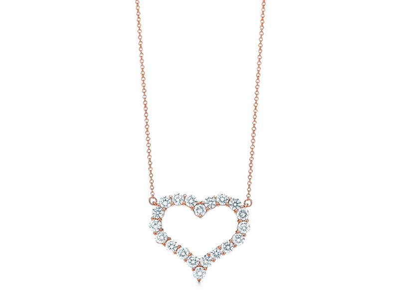 Tiffany & Co. Diamond Heart Pendant diamonds rose gold