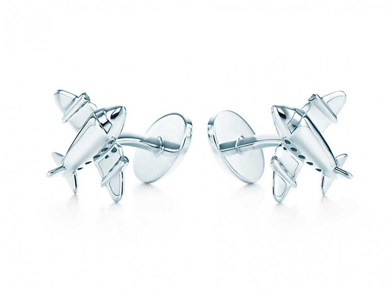 Tiffany & Co Airplane cufflinks in sterling silver, ~ 390 Euros