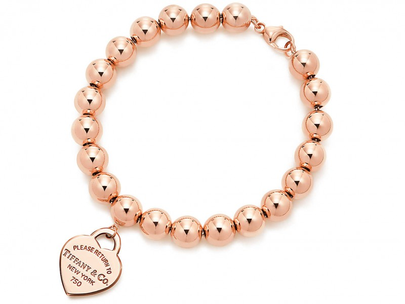 Tiffany & Co Return to tiffany bracelet mounted on rose gold