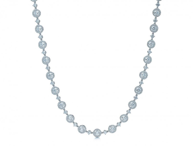 Tiffany & Co Round brilliant diamond necklace