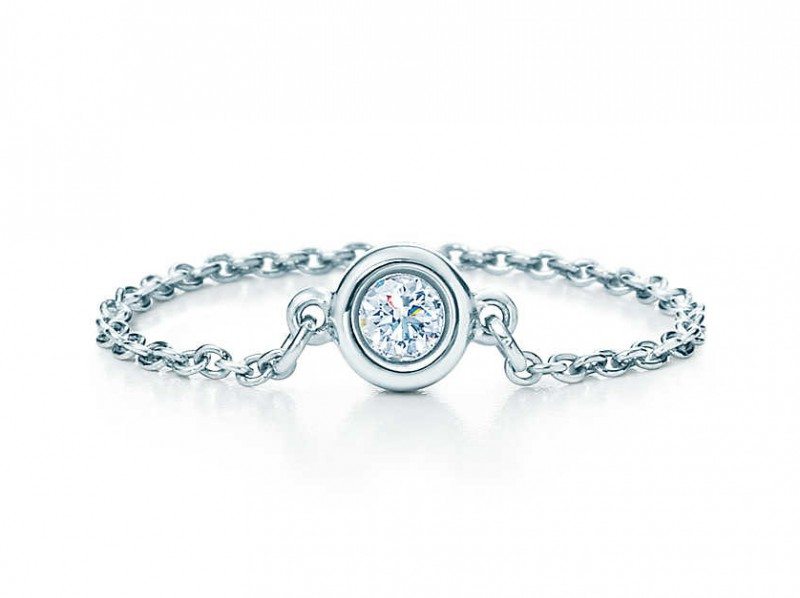 Tiffany & Co Diamonds by the yard ring mounted on platinum, ~ 840 Euros