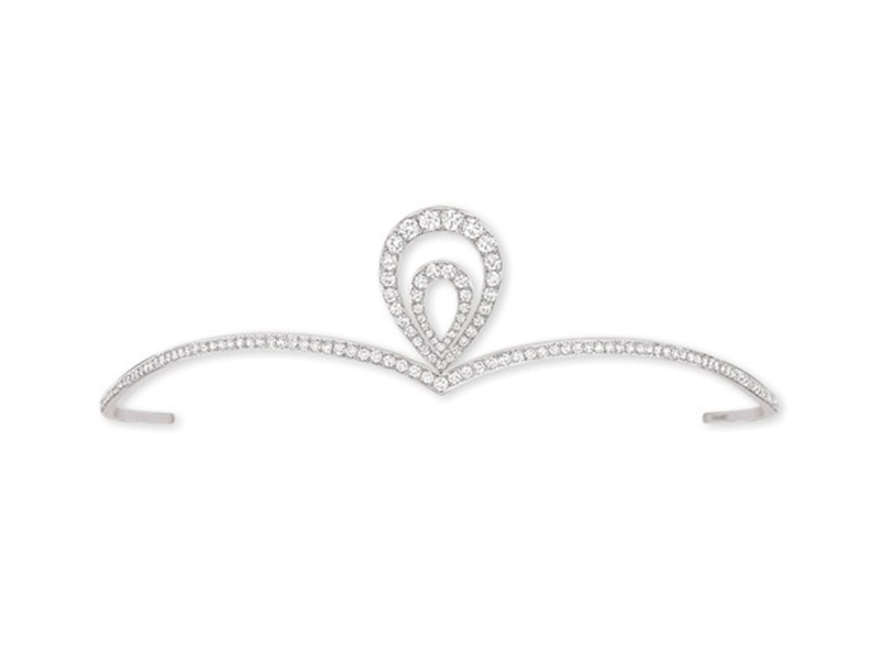 "Chaumet Josephine ""Aigrette"" tiara on white gold with diamonds"